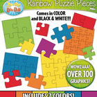 Puzzle Pieces Clipart  Over 25 Graphics!