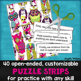Puzzle Strips: Open-ended customizable activities for prac