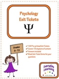 Psychology Exit Slip Tickets