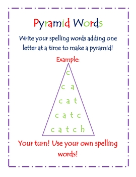 Pyramid Words