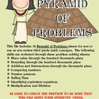 Pyramid of Problems Third Grade Math Test Review