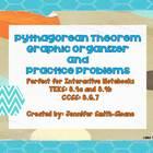 Pythagorean Theorem Graphic Organizer &amp; Task Card Practice