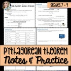 Pythagorean Theorem Notes and Practice