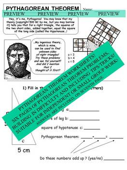 Pythagorean TheoremWorksheets with Answers
