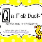 Q is for Duck-- Outlined letters within the bundle