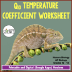 Q10 Temperature Coefficient Worksheet
