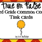 QR Code Fun - 3rd Grade True or False? Task Cards - 3.OA.4