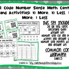 QR Code Math Center and Activity: 10 More/Less, 1 More/Les