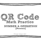 QR Code Math Practice [Percents]