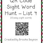QR Code Sight Word Hunt - List 4