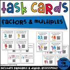 QR Code Task Cards: Factors and Multiples (Common Core Ali