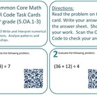 QR Code Task Cards Grade 5 Operations & Algebraic Thinking