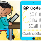 QR Codes: Say It, Find It, Scan It- Contraction Action Lit