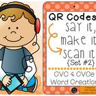 QR Codes: Say It, Make It, Scan It Set #2- CVC and CVCe Li