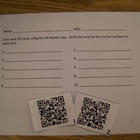 QR Codes for Telling Time