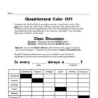 Quadrilateral Color Off  - (geometry / polygons / shapes / plane)