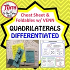 Quadrilateral Foldable with Cheat Sheet
