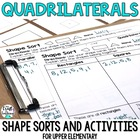 Quadrilaterals: 2D Shape Sort w/ Shape Cards