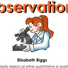 Quantitative vs. Qualitative Observations - Smartboard Lesson
