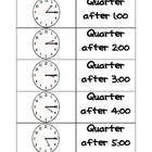Quarter After, Quarter To - Time - Perfect for Centers