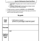 Quarterly Student Goal Sheet