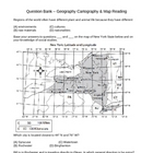 Question Bank - Geography/Maps - Social Studies (4 - 8)
