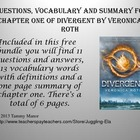 Questions, Vocabulary and Summary for  Chapter One of Dive