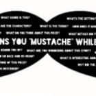 Questions You &quot;Moustache&quot; Reading Strategies Poster