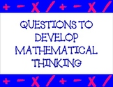 Questions to Develop Mathematical Thinking