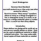 Quick Centers and Stations for Common Core Kindergarten Ma