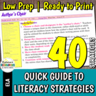 Quick Guide to Literacy Strategies