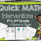 Quick Math Interventions For 1st & 2nd