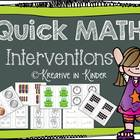 Quick Math Interventions for Kinder & Struggling 1st
