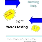 Quick Reading Help: Sight Words Test