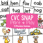 cvc Words - Quick Snap MEGA PACK - Games / Center Activities