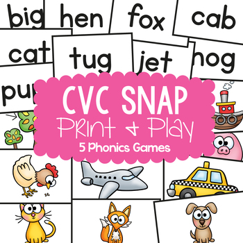 Quick Snap MEGA PACK - 5 cvc Games / Center Activities