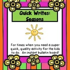 Quick Writes: Seasons
