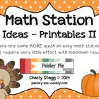MATH STATION: Quick & Easy Stations II: 21 Complete Stations