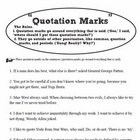 Quick and Easy three part introduction to quotation marks