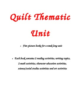 Quilt Thematic Unit