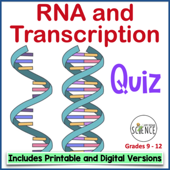 Quiz #2:  RNA (Ribonucleic Acid) and Transcription