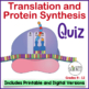 Quiz #3:  Translation and Protein Synthesis