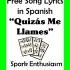 Quizas Me Llames Song Lyrics en espanol / Call Me...
