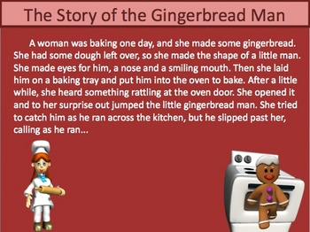 Quotation Marks Powerpoint Lesson and quiz - Gingerbread M