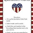 Quotation Marks Practice Task Cards