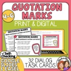 Quotation Marks Task Cards: 32 Multiple Choice Cards for C
