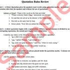 Quotations and Italics Worksheet