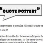 Quote Poster Sub Plan (Spanish)