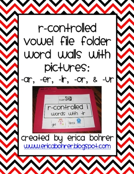 R-Controlled Vowels File Folder Word Walls