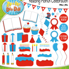 RAA Reading Month Celebration Clip Art Set — Over 85 Graphics!